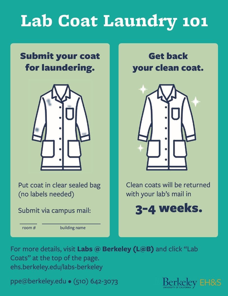 submit your coat for laundering in a sealed clear bag submit via campus mail get back coat clean