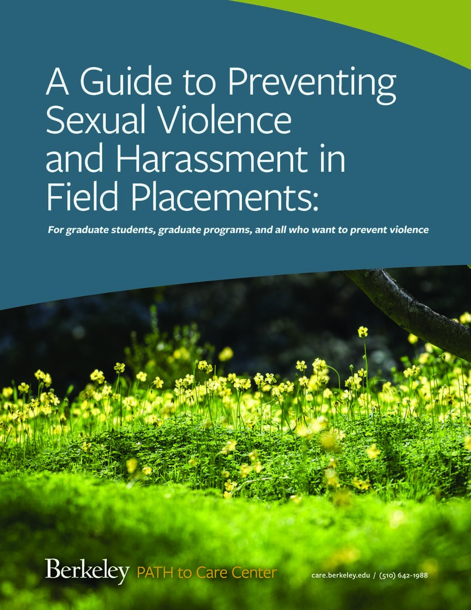 A Guide to Preventing Sexual Violence and Harassment in Field Placements