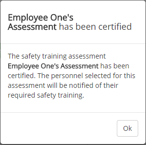 Assign Safety Training