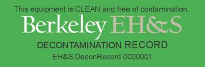 EHS Decontamination Record