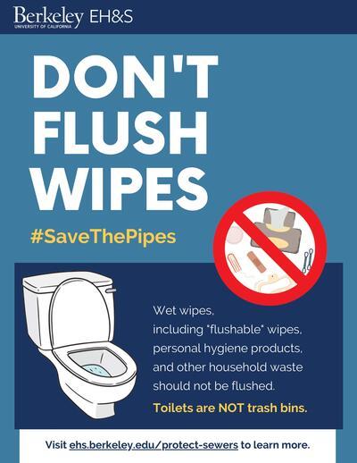 Don't flush wipes flyer
